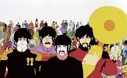 Los beatles versión cómic de animación.