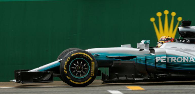 Lewis Hamilton durante el GP de Gran Bretaña