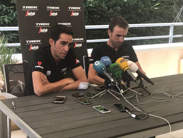 Contador, junto a Zubeldia