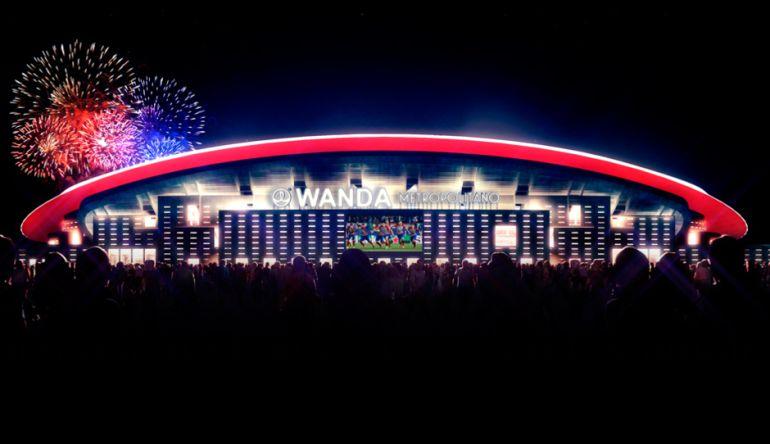 Imagen de como será durante esta temporada el Wanda Metropolitano