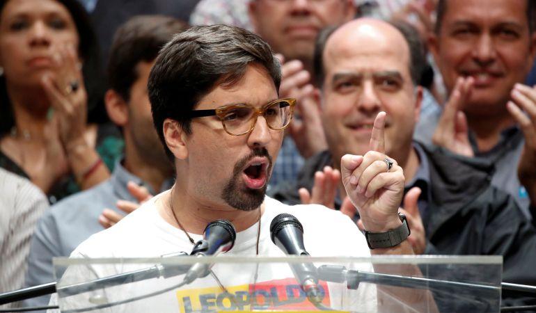 Freddy Guevara, vice-presidente de la oposición en la Asamblea Nacional de Venezuela.