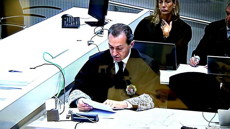 El fiscal Luis Rodríguez Sol durante su informe final este lunes