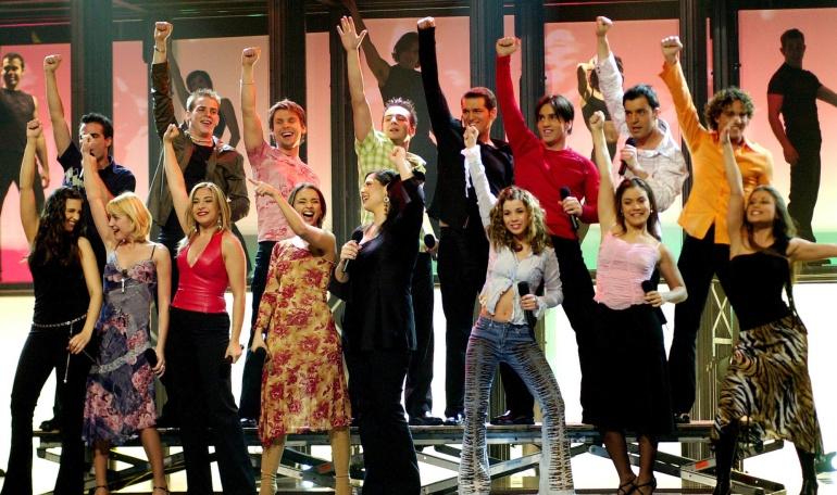 Los concursantes de la primera edición de 'Operación triunfo'