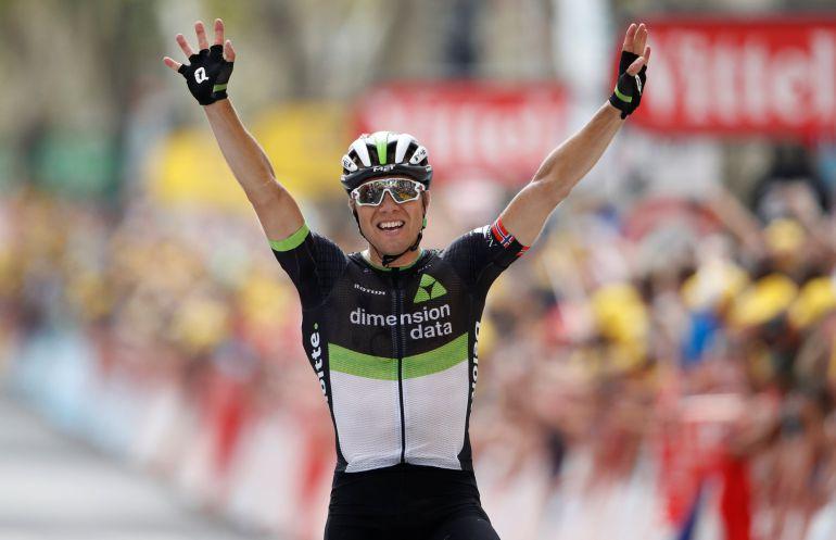 Boasson Hagen celebra su victoria