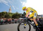 Cycling - The 104th Tour de France cycling race - The 22.5-km individual time trial Stage 20 from Marseille to Marseille, France - July 22, 2017 - Team Sky rider and yellow jersey Chris Froome of Britain in action with the Notre Dame de la Garde basilica in the background. REUTERS/Jean-Paul Pelissier TPX IMAGES OF THE DAY