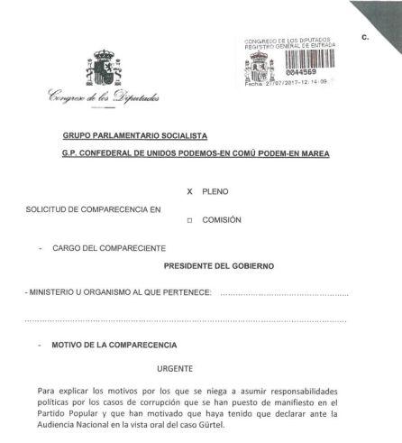DOCUMENTO | Consulta la petición de comparecencia