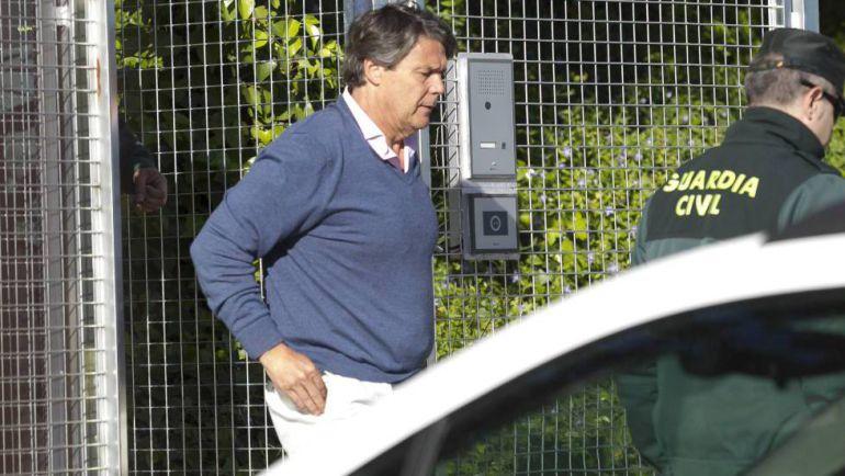 El exdirectivo de Mercasa, Pablo González, el día de su detención el pasado 21 de abril de 2017.