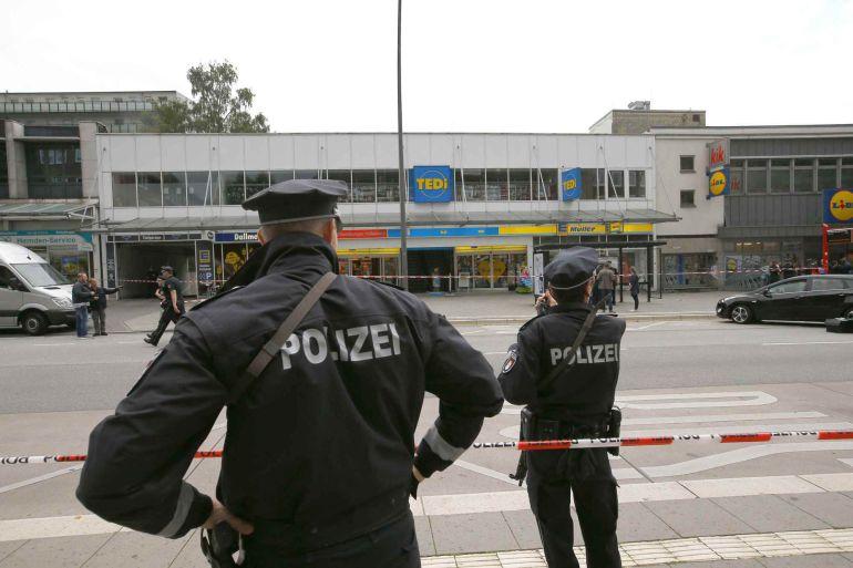 La policía alemana ha acordonado la zona del suceso.