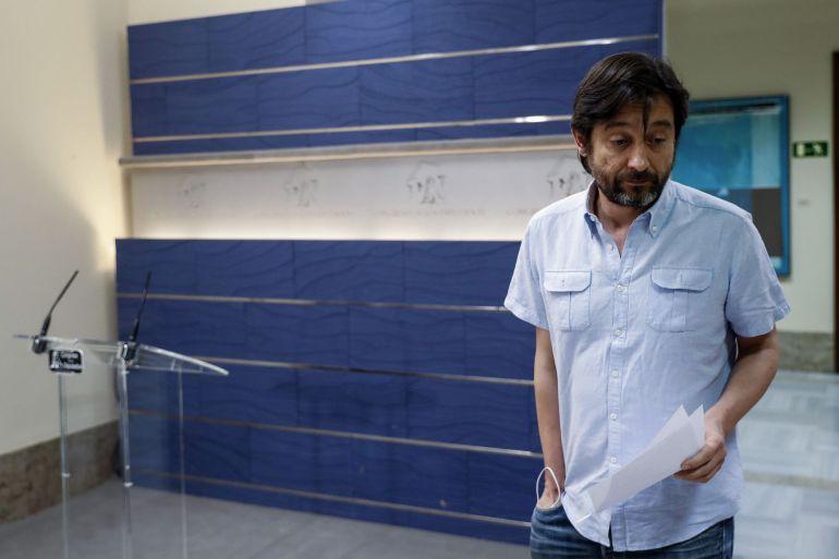 El secretario de Relaciones con la Sociedad Civil de Podemos, Rafael Mayoral.