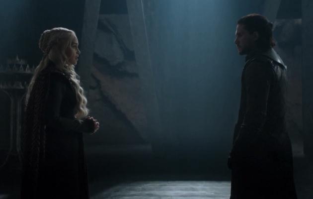 Daenerys y Jon en el 7x03 de 'Juego de tronos'