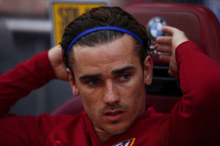 Griezmann, en el banquillo del Calderón