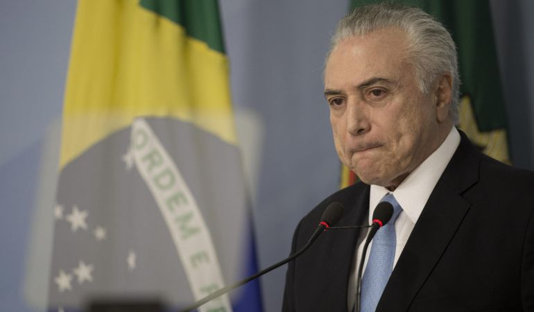 El presidente de Brasil, Michel Temer, habla sobre el archivo del proceso de corrupción que tramitaba en la Cámara de los Diputados.