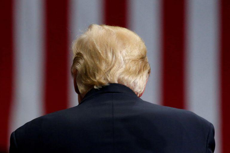El presidente Donald Trump durante un acto en Ohio el pasado mes de julio