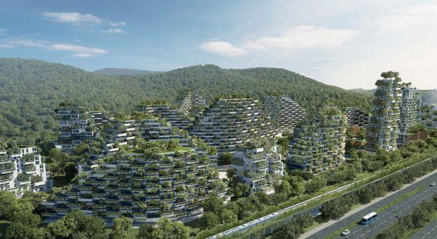 Las fachadas de los edificios estarán llenas de vegetación.