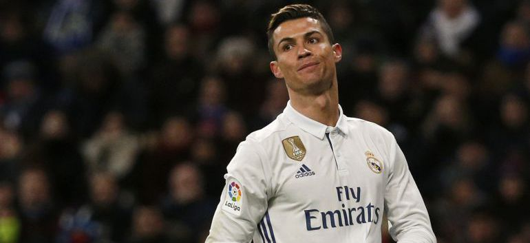 Cristiano Ronaldo en un partido ante el Celta de Vigo