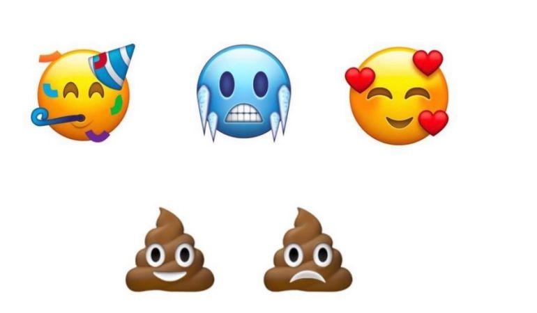 Algunos de los nuevos emojis de Unicode 11.0 que serán incluídos en 2018.