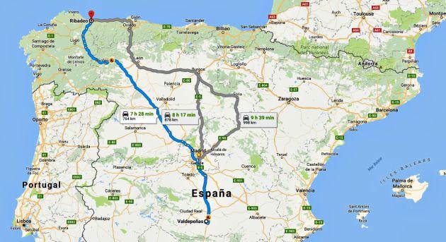El taxista recorrió más de 800 kilómetros desde Ciudad Real hasta Lugo