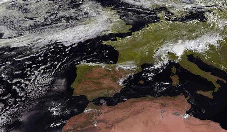 Imagen tomada por el satélite Meteosat para la Agencia Estatal de Meteorología.