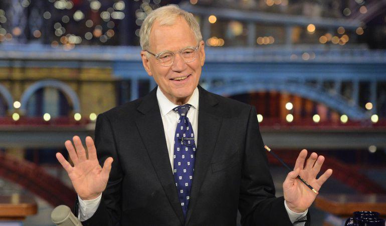 David Letterman presentando su último programa.