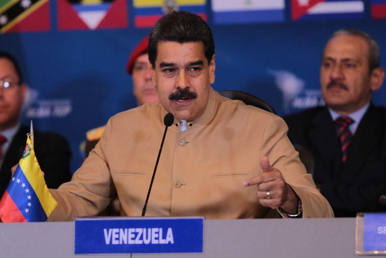 Fotografía cedida por la Oficina de Prensa del Palacio de Miraflores, del presidente de Venezuela, Nicolás Maduro