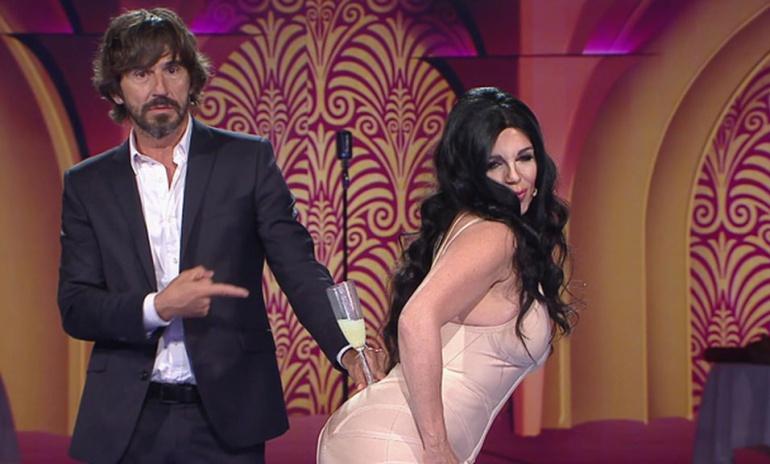 Santi Millán y Belinda Washington en 'Me lo dices o me lo cantas'