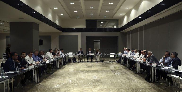 Asamblea General de la ACB celebrada hoy en Madrid.