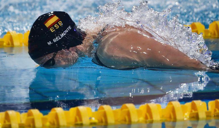 Mireia Belmonte, durante la Copa del Mundo de natación en Eindhoven