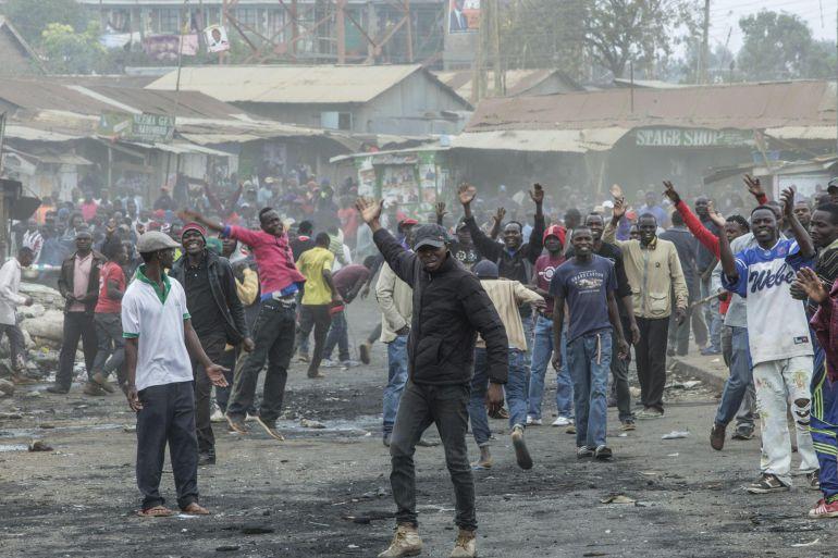 Las protestas se están sucediendo en diferentes puntos de Kenia.
