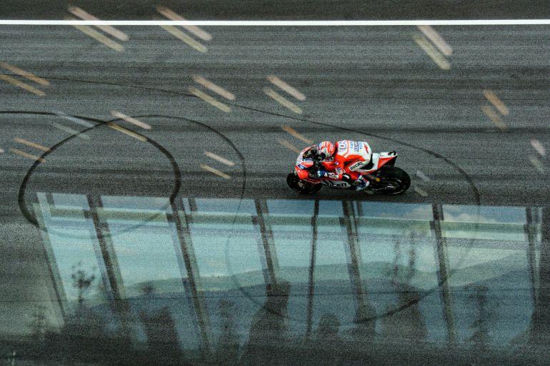 Dovizioso rueda en el GP de Austria