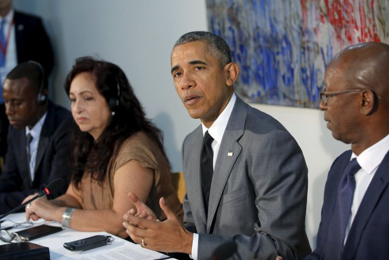 Obama en una de sus apariciones durante su mandato.