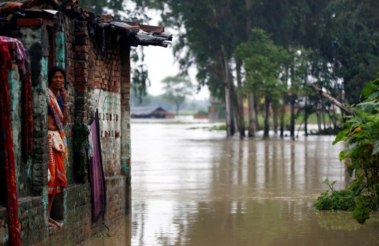 Miles de afectados por las inundaciones en Nepal.