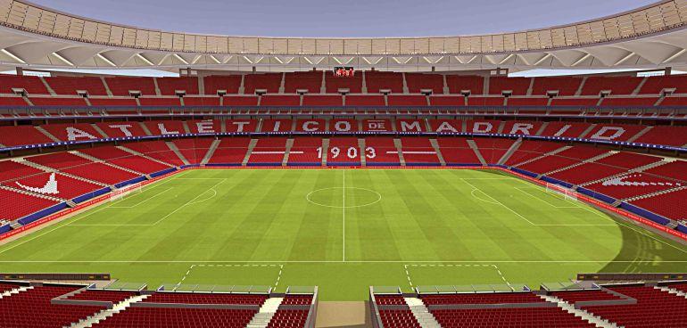 Una recreación del Wanda Metropolitano, así será