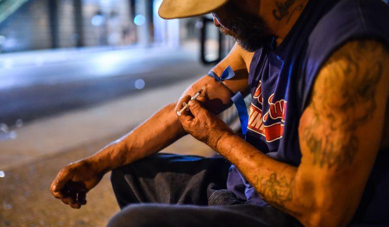 Un consumidor de heroína en Philadelphia (EEUU)