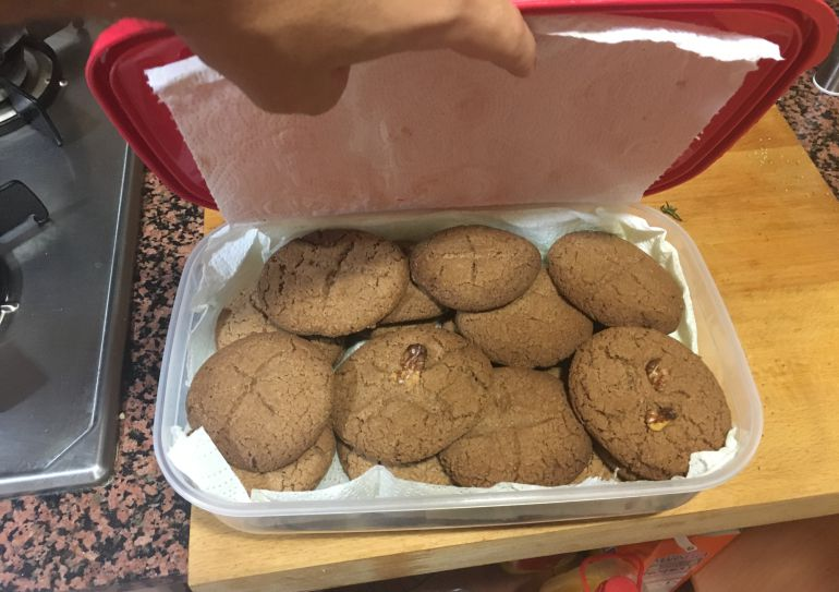 Galletas elaboradas con harina de grillo.