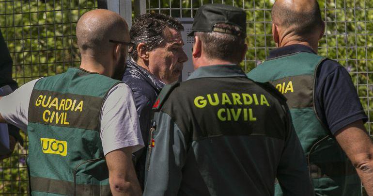Ignacio González durante su detención