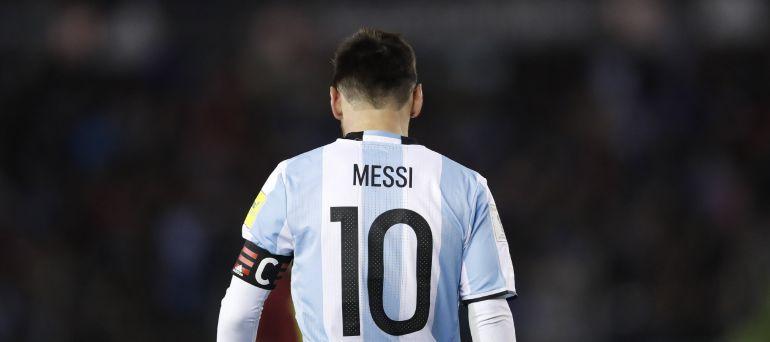 Messi, durante un momento del partido frente a Venezuela