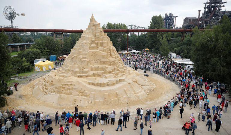 El castillo de arena más grande del mundo.