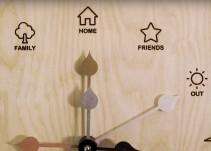 Crean un reloj que muestra dónde se encuentra cada miembro de la familia