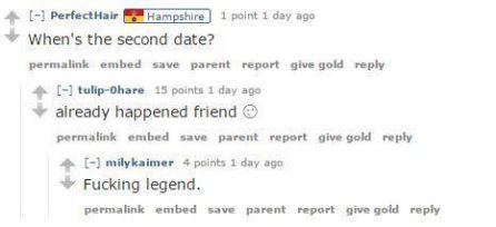 La joven asegura que hubo segunda cita.