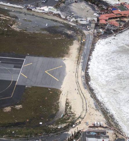 Estado actual de la playa de Maho.