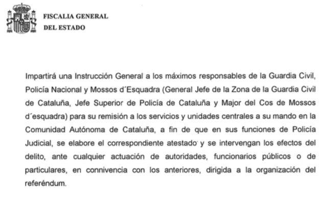 Escrito de la Fiscalía General del Estado.