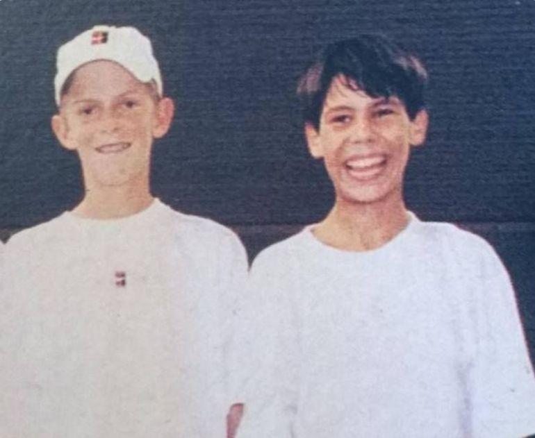 Nadal y Anderson a los doce años.