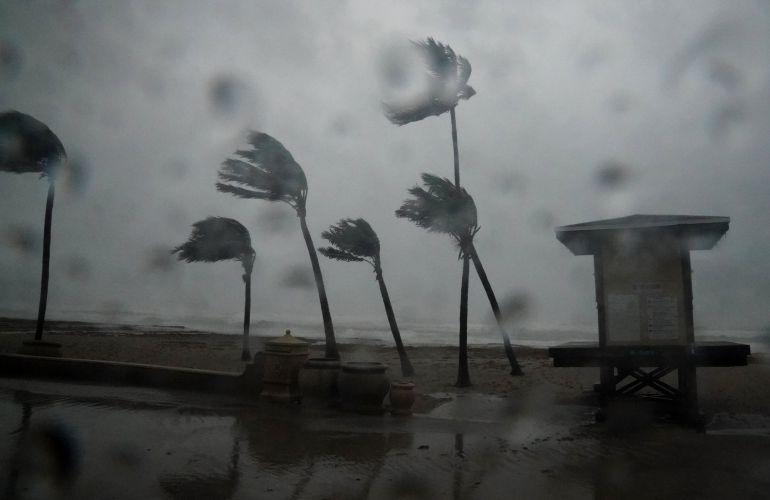 Los fuertes vientos sacuden el sur de Florida como consecuencia del huracán Irma.