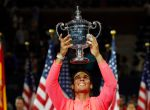Tennis - US Open - Mens Final - New York, U.S. - September 10, 2017 - Rafael Nadal of Spain holds the trophy after defeating Kevin Anderson of South Africa. REUTERS/Mike Segar