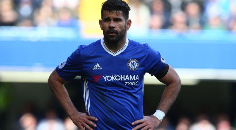 Diego Costa, frustrado durante un encuentro con el Chelsea