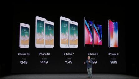 Lista de precios de los terminales de Apple.