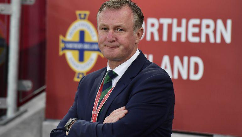 El seleccionador de Irlanda del Norte Michael O'Neill.