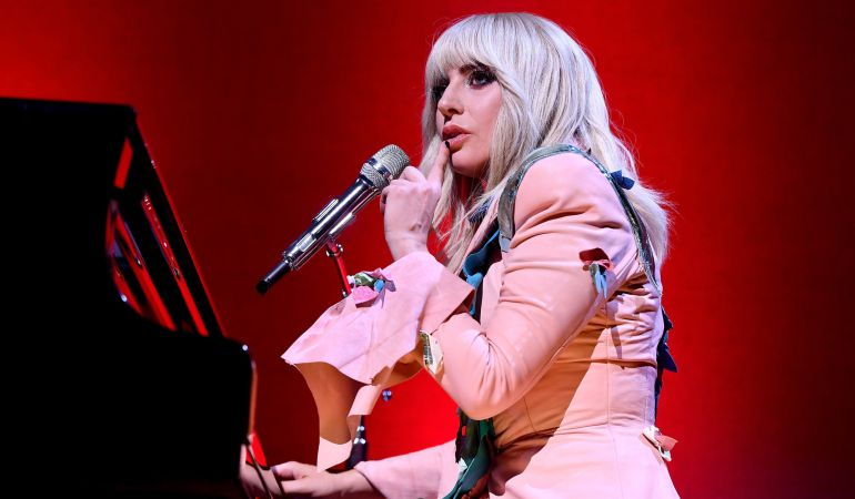 Lady Gaga durante la presentación de su documental.
