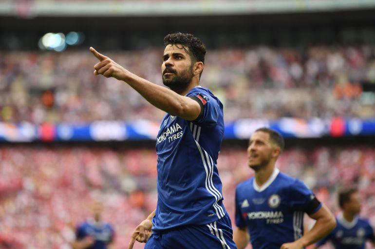 Costa celebra un gol con el Chelsea