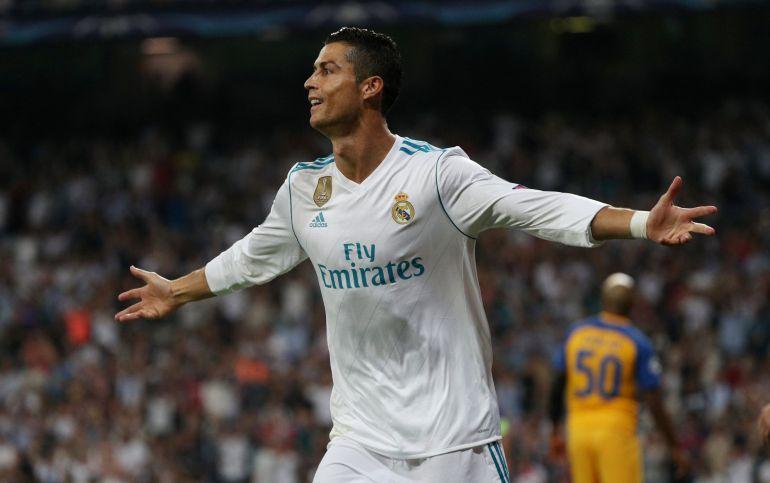 Cristiano celebra un gol